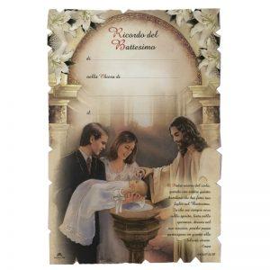 Diploma battesimo